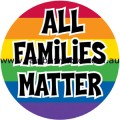 All Families Matter Rainbow Sticker Adhesive Gay Lesbian Pride