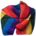 Rainbow Scarf Polyester Heavy Knit Lesbian Gay Pride