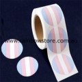 Transgender Circle Plastic Coated Paper Adhesive Stickers Roll of 100 Trans Pride