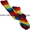 Rainbow Over The Knee Socks Lesbian Gay Pride
