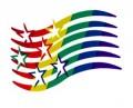 Stars Wavy Bar Rainbow Sticker Adhesive Gay Lesbian Pride