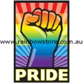 Rainbow Pride Power Adhesive Sticker Lesbian Gay