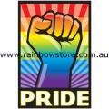 Rainbow Pride Power Adhesive Sticker Lesbian Gay