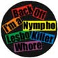 Back Off Badge Button 3cm 1.1 inch Diameter Lesbian Gay Pride