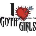 I Love Goth Girls Ceramic Mug Gay Lesbian Pride