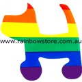 Dog Rainbow Static Cling Sticker Gay Lesbian Pride
