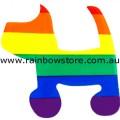 Dog Rainbow Static Cling Sticker Gay Lesbian Pride