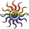 Female Tribal Sun Sticker Adhesive Lesbian Gay Pride