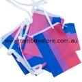 Bisexual Flag Bunting 20 Medium Flags 14cm x 21cm Bi Sexual Pride