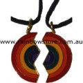 Other Half Pendant Necklace Lesbian Gay Pride