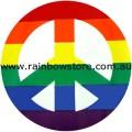 Rainbow Peace Sign Adhesive Sticker Gay Lesbian Pride