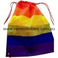Rainbow Stripe Polyester String Backpack Lesbian Gay Pride