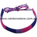 Bisexual Flat Wound Cotton Friendship Bracelet Bi Pride