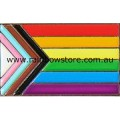 Rainbow Progress Pride Silver Tone Lapel Badge Pin - Larger Size