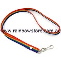 Rainbow Lanyard With Clip Gay Lesbian Pride