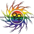 Female Rainbow Eye Of The Storm Sticker Adhesive Lesbian Pride