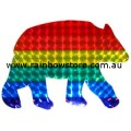 Rainbow Bear Holographic Sticker Adhesive Gay Lesbian Pride