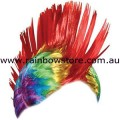 Rainbow Mohawk Wig Lesbian Gay Pride