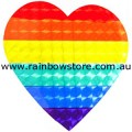 Rainbow Heart Sticker Holographic Adhesive Gay Lesbian Pride