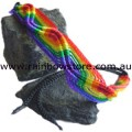 Rainbow Macrame Waves Friendship Bracelet Lesbian Gay Pride