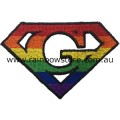 Rainbow Super Gay Embroidered Iron On Patch Gay Pride