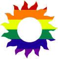 Sun Rainbow Sticker Adhesive Lesbian Gay Pride
