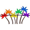 Tropical Palm Trees Rainbow Sticker Adhesive Lesbian Gay Pride