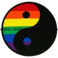 Yin Yang Rainbow Sticker Static Cling Gay Lesbian Pride