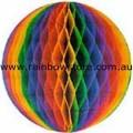 Rainbow Large Tissue Ball Decoration Gay Lesbian Pride