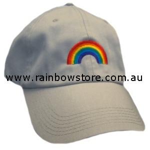 204ed97fe1f60 Rainbow Arch Tan Baseball Cap Hat Lesbian Gay Pride - Rainbow Store