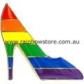 Rainbow Shoe Badge Lapel Pin Lesbian Gay Pride