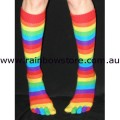 Rainbow Knee High Toe Socks Lesbian Gay Pride