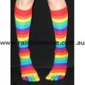 Rainbow Knee High Toe Socks Lesbian Gay Pride