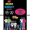 My Pride Family Car Adhesive Sticker Set - Front