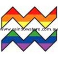 Rainbow Aquarius Zodiac Adhesive Sticker Gay Lesbian Pride