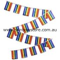 Rainbow Flag Bunting 20 Medium Flags 15cm x 22cm Gay Lesbian Pride