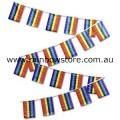 Rainbow Flag Bunting 20 Medium Flags 15cm x 22cm Gay Lesbian Pride
