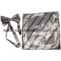 Transgender Bow Tie And Handkerchief For Suit Jacket Shirt Pocket Trans Pride
