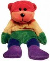 Rainbow Beanie Bear Plush Lesbian Gay Pride