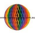 Rainbow Small Tissue Ball Decoration Gay Lesbian Pride