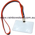 Gay Lesbian Pride Business Card Holder With Rainbow Lanyard
