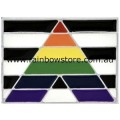 Straight Ally LGBTQ Rectangle Silver Plated Badge Lapel Pin