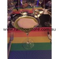 Rainbow Place Mat Sold as a Pair Gay Lesbian Pride