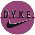 Dyke Badge Badge Button 3cm 1.1 inch Diameter Lesbian Gay Pride