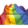 Rainbow Flag Polyester Street Parade 3 metre x 10 metre Gay Lesbian Pride