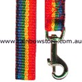 PARADE WALKER Tall Dog Pet Lead Leash Rainbow Nylon Webbing Lesbian Gay Pride