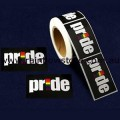 Rainbow Pride Plastic Coated Paper Adhesive Stickers Roll of 250 Pride Gay Lesbian
