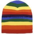 Rainbow Knit Beanie Hat Lesbian Gay Pride