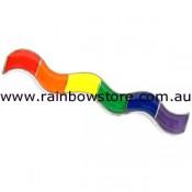 Rainbow Wave Lapel Pin