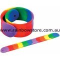 Rainbow Silicone Slap It Wrist Band Gay Lesbian Pride